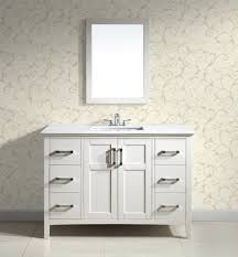 Simpli Home Winston  Bath Vanity With Quartz Marble Top White - Bathroom vanities with marble tops
