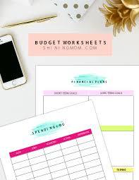free printable family budget plan worksheets that work