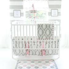 Crib Bedding Pattern Pink And Gray Chevron Crib Bedding