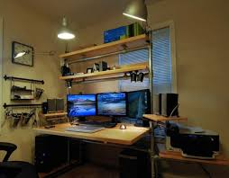 Computer Desk With Shelves Above Computer Desk With Shelves Above
