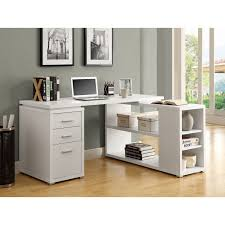 Home Student Desk by Rectangular White Wooden Cumputer Table With Drawers And Keyboard