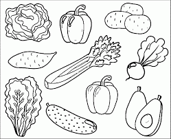 printable healthy eating chart coloring pages in fruits and