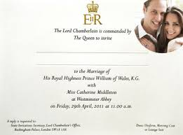 royal wedding cards take a look at the royal wedding invitation e news canada