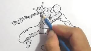 menggambar spiderman draw spiderman