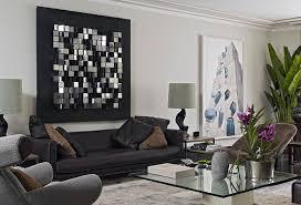 modern wall decor for living room round coffee table long dining