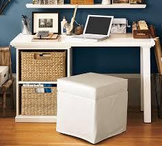 Small Office Desk Ideas Bedford Small Desk Antique White Pottery Barn