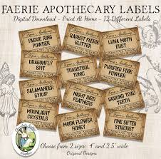 fairy faerie apothecary potion bottle labels halloween witch