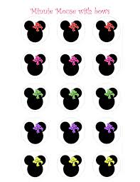 minnie mouse free bow printables clipart cliparts