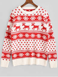 snowflake deer graphic sweater sweaters one size
