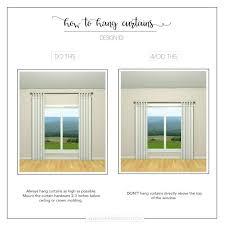 where to hang curtains where to hang curtain rods edutours info