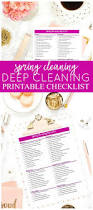 free printable spring cleaning checklist for deep cleaning