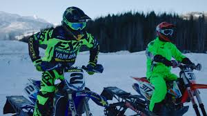 motocross snow bike how snow biking evolved from a mechanical experiment to a