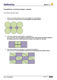 Symmetrical Shapes Worksheets Tessellations Combining Shapes