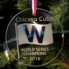 chicago cubs world chions w ornament glass house store