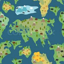 continents seamless pattern world map is endless ornament