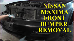 nissan sentra front bumper nissan maxima front bumper removal with basic hand tools youtube