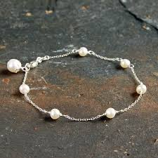 pearl sterling silver bracelet images Delicate sterling silver and pearl bracelet by highland angel jpg