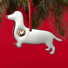 dachshund holiday ornament u0026 collar charm set