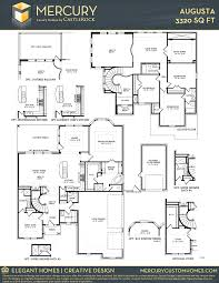augusta mercury luxury home home plan by castlerock communities in