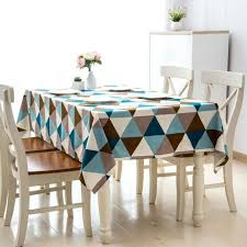 nappe de cuisine rectangulaire nappe rectangulaire géométrique anti tache en coton pour cuisine