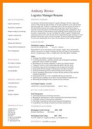 Resume For Logistics Executive 7 Logistics Manager Resumes Time Table Chart