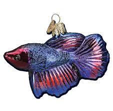 world ornaments betta fish glass ornament 12384