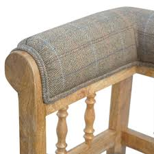 Hickory Chair Bench Artisan Hallway Bench With Casters Grey Tweed U2013 Hickory