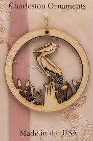 unique wooden pelican ornament custom pelican ornaments free
