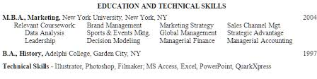 Examples Of A College Resume by Examples How To List An Mba On A Resume Susan Ireland Resumes
