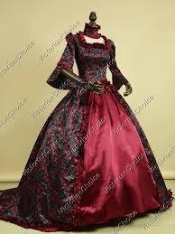 Ball Gown Halloween Costumes Fair Dark Queen Elizabeth Ball Gown Period Dress Vampire