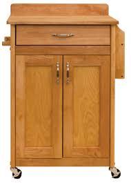 catskill craftsmen deluxe butcher block cart with flat panel doors