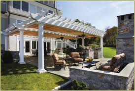 Attached Pergola Plans by Attached Pergola Plans Home Design Ideas