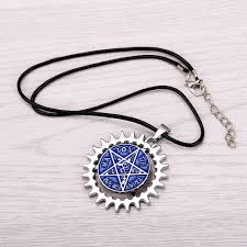 black charm necklace images 12pcs lot cosplay black butler jewelry blue star metal alloy jpg