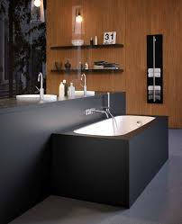 bathroom simple modern spa bathroom decor idea with matte black