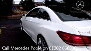 mercedes of poole 2014 mercedes e class coupe amg sport 2 2l polar white