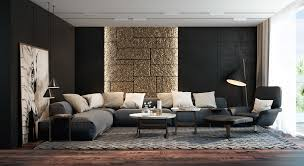 modern living room table wall units amazing black living room black and white interior