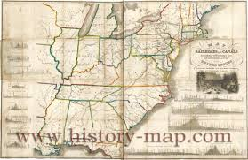 Northern United States Map by United States Railroads In 1834