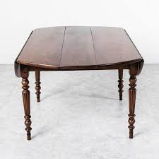 period louis philippe solid walnut round dining table with turned