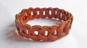 chain bracelet with leather images How to make a chain leather bracelet diy style tutorial jpg