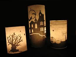 not just decorating pottery barn inspired halloween luminaries