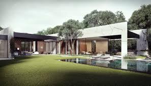 diseño de casa en forma de l con piscina diseño de casas home