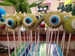 pinterest u0027teki 25 u0027den fazla en iyi monsters inc cake pops fikri
