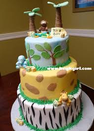 safari baby shower safari baby shower cake 3 tier round
