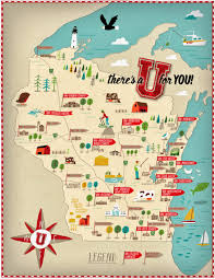 Wisconsin Maps by Campus Locator Map For University Of Wisconsin Map Illustration