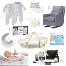 baby needs the 20 things you need for the month home with a newborn