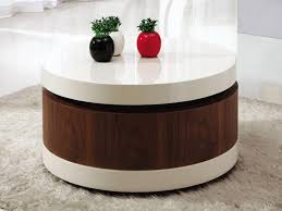 appealing round coffee table with storage ottomans coffee table