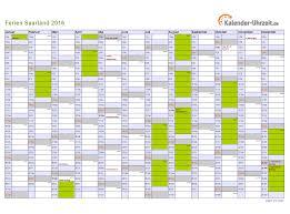 Kalender 2018 Mit Feiertagen Saarland Ferien Saarland 2016 Ferienkalender Zum Ausdrucken