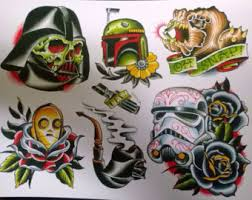 tattoo flash etsy