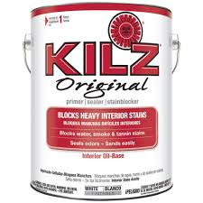 kilz original 1 gal white oil based interior primer sealer and