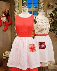 affordable christmas crafts apron martha stewart and holidays